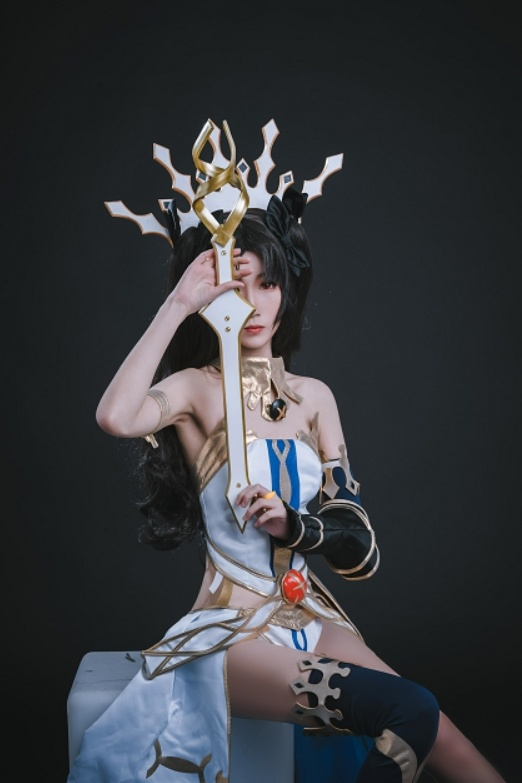 妖君白研 - NO.12 FATEGRAND ORDER场照漫展COS梅尔特莉莉丝FGO泳着 (1)