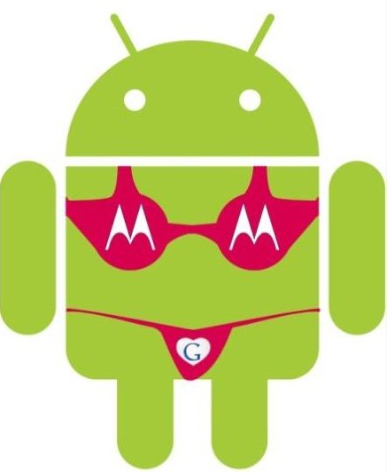 Google收购摩托罗拉竟然是android机器人缺个胸罩?