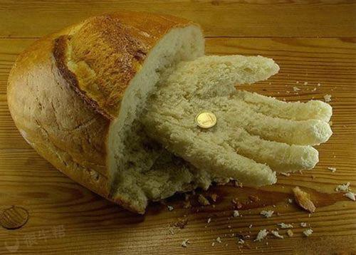 面包啃成手