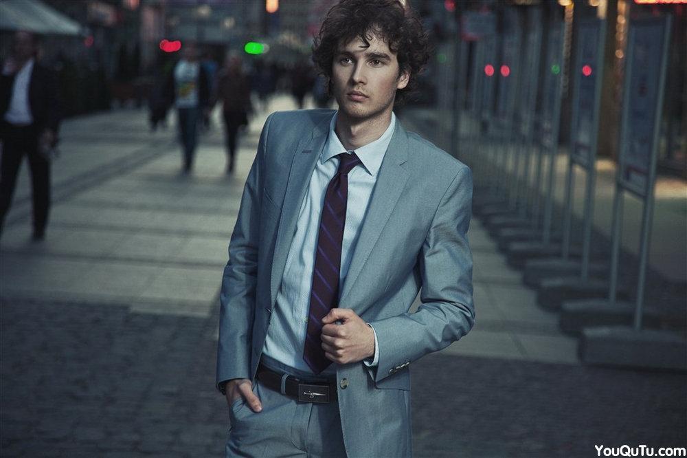 欧美时尚帅哥写真图片