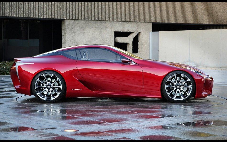 红色超跑汽车雷克萨斯外观和内饰高清图片大全