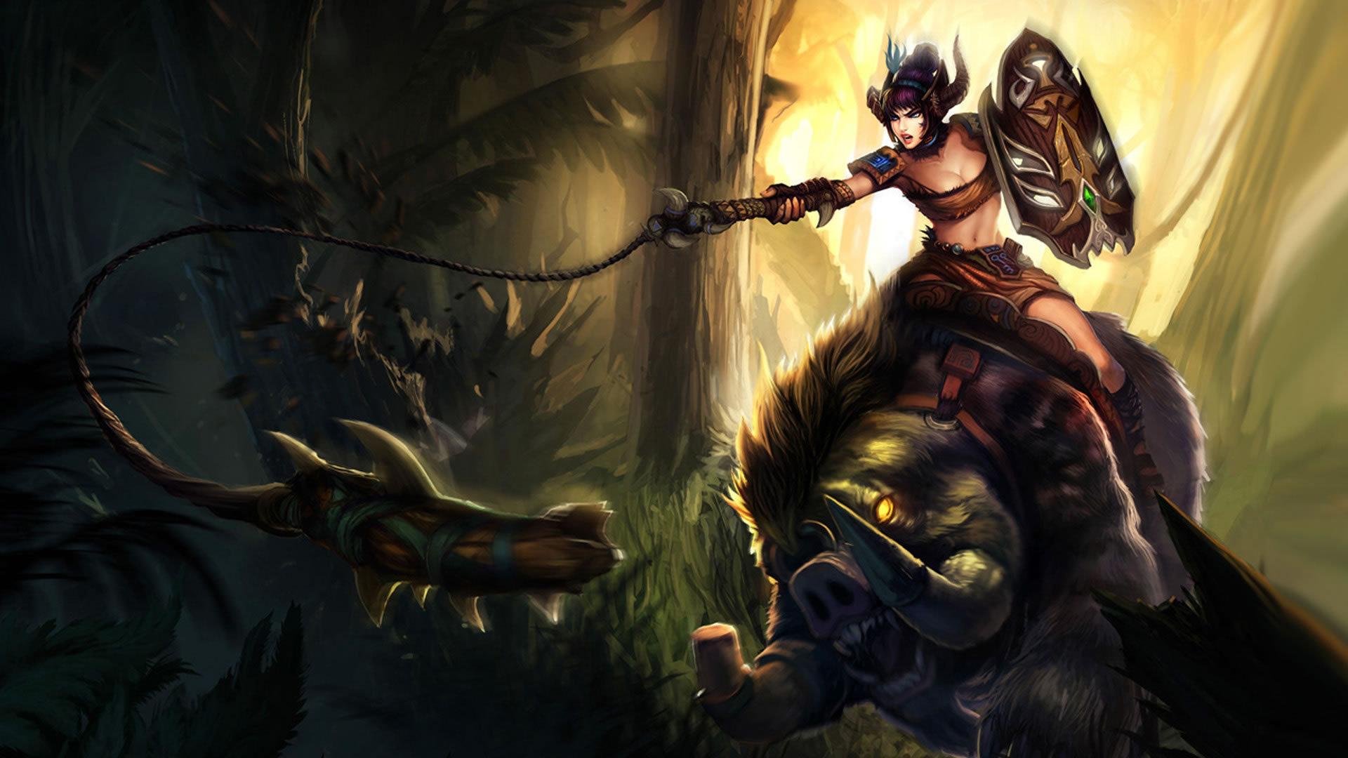 英雄联盟狂野女猎手宣传海报高清图片大全