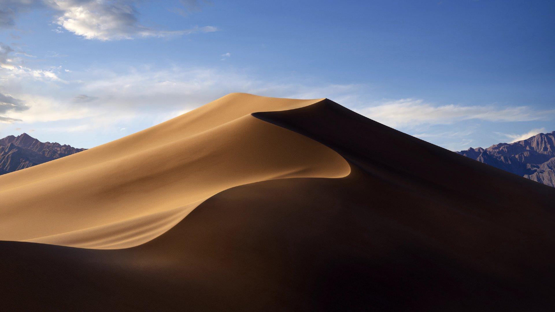 广袤无垠一望无际的沙漠桌面壁纸