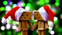 庆祝圣诞节的纸盒人玩具高清壁纸大全