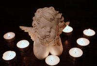 纯洁可爱的小天使雕像高清特写图集