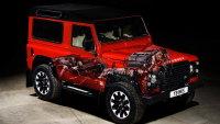 霸气时尚的红色V8路虎卫士广告图片
