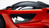 热情时尚的红色迈凯轮赛纳超跑广告图片
