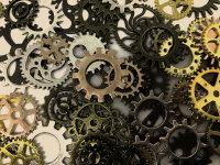 大小不一的精密金属齿轮啮合高清图集