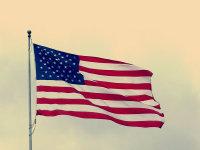 微风吹拂下飘扬的美国国旗精美图集