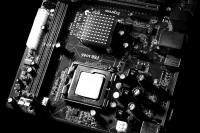 电脑主机中精密的零配件素材图片