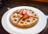 松软可口的蜂蜜黄油华夫饼高清精美图集