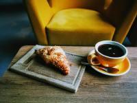 西式早餐咖啡和面包摄影图集