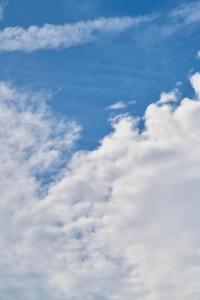 晴天之下的蓝天白云高清电脑壁纸