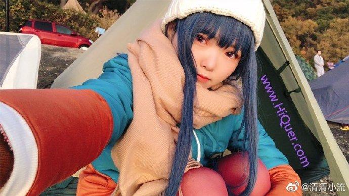 现实也有这么可爱的妹子露营吗,日本女coser《摇曳露营》高还原度野外cosplay 涨姿势 第6张