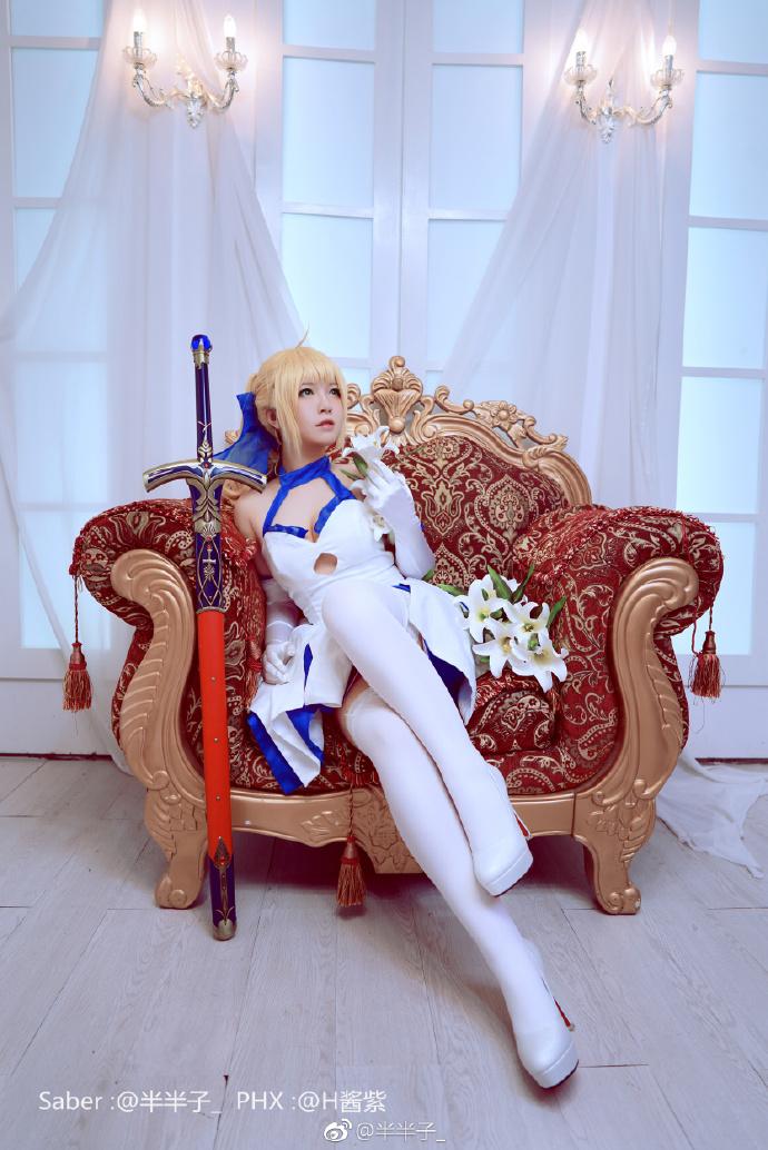 【cos正片】十周年纪念Ver《Fate》Saber蓝百合cosplay欣赏 cosplay-第8张