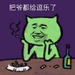 焦绿猫表情图片