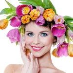 淡雅彩妆美女人体艺术摄影