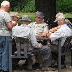 退休老人休闲生活人体艺术摄影