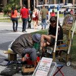 街头擦皮鞋人体艺术摄影