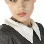 面部淡妆美女头像人体艺术摄影