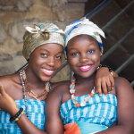 非洲黑人姐妹闺蜜人体艺术摄影