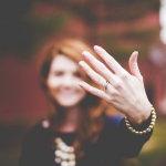 戴婚戒手指人体艺术摄影