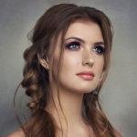 韩式麻花辫发型人体艺术摄影