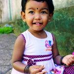 可爱印度小女孩人体艺术摄影