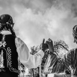跳舞男女黑白背影人体艺术摄影