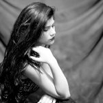 黑白绝色美女人体艺术摄影