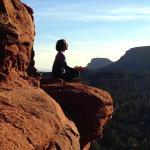 深山打坐瑜伽人体艺术摄影