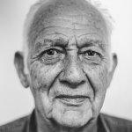 黑白老人人体艺术摄影