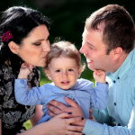 一家人幸福人体艺术摄影