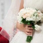 新娘捧花手势人体艺术摄影
