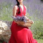 红裙气质型美女人体艺术摄影