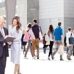 商业广场人群人体艺术摄影