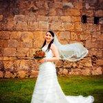 白色婚纱新娘人体艺术摄影