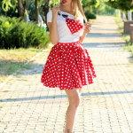 波点红裙性感美女人体艺术摄影