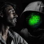 黑客男子人体艺术摄影