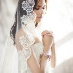 白色婚纱性感美女人体艺术摄影