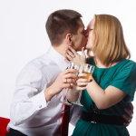 情侣一男一女接吻人体艺术摄影