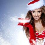圣诞美女人体艺术摄影