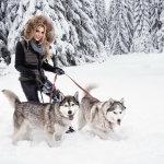 冬季雪地美女写真人体艺术摄影