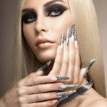 烟熏妆金属美甲人体艺术摄影