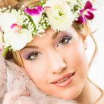 鲜花花环美女人体艺术摄影