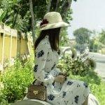 阳光小清新美女淑雅养眼自然街拍清纯人像写真