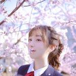 极品妖娆校园美女学生妹西服优等生赏花清纯写真