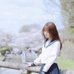 校园女神户外jk水手服唯美小清新氧气写真