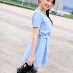 台湾模特陈乐乐女仆装自拍照可爱迷人