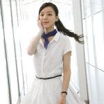漂亮女孩张静初纯白长裙迷人外拍